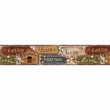 Bigelow Beige Country Plaque Collage Border