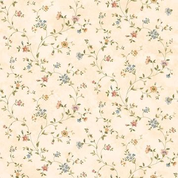 Ira Cream Antique Floral Scroll