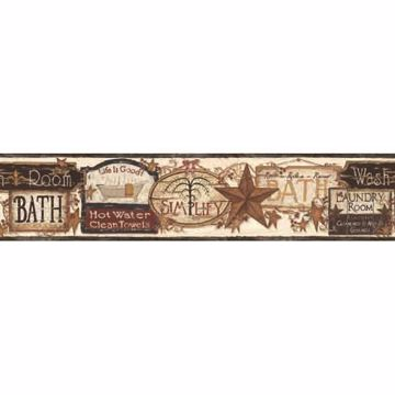 Montgomery Cream Bath Antique Signs Border
