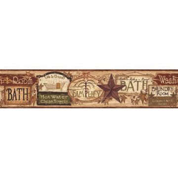 Montgomery Sand Bath Antique Signs Border
