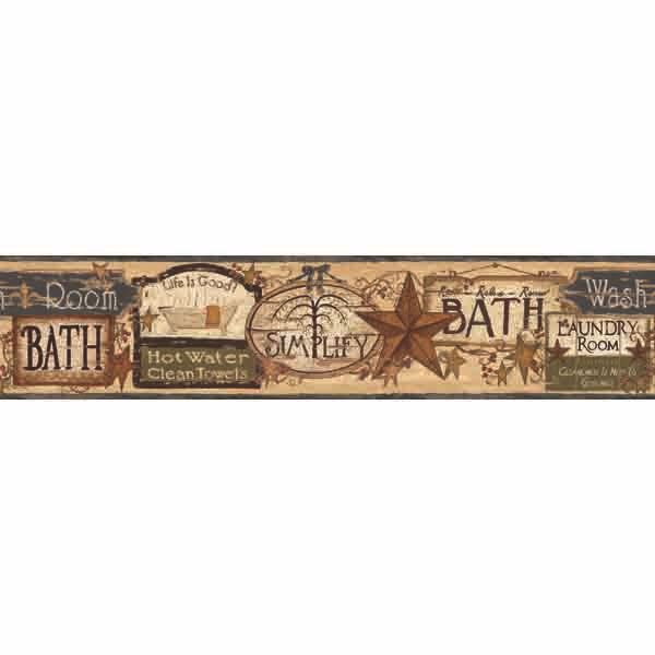 Montgomery Wheat Bath Antique Signs Border