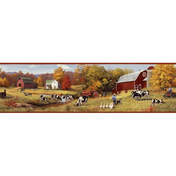 Frannie Red Cow Pasture Portrait Border