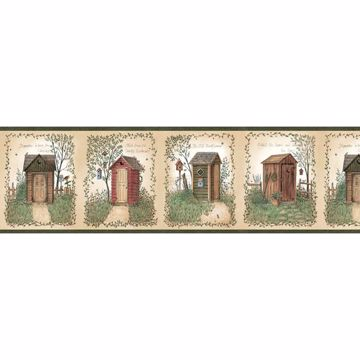 Marty Cream Outhouse Panels Border