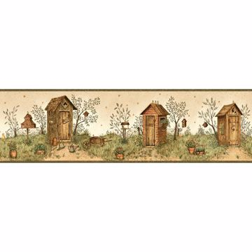 Tigger Sand Garden Outhouse Portrait Border