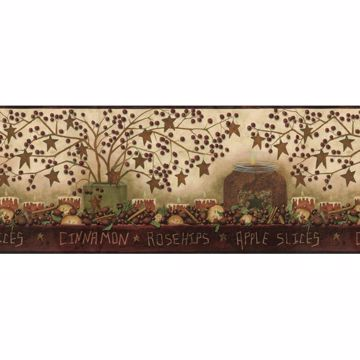 Cinnamon Bronze Potpourri Still Life Border