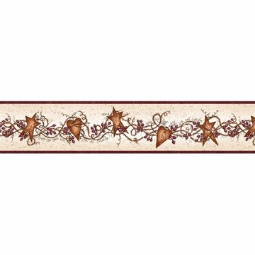 Shalene Rust Tin Hearts Garland Border