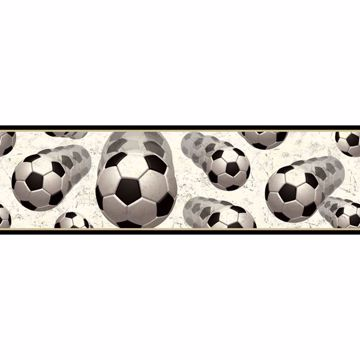 Beckham Black Soccer Motion Portrait Border