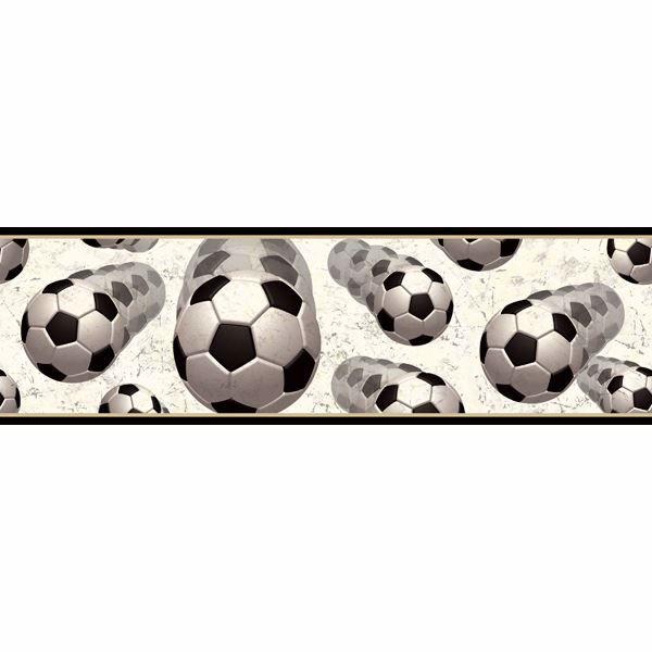 Beckham Black Soccer Motion Portrait Border