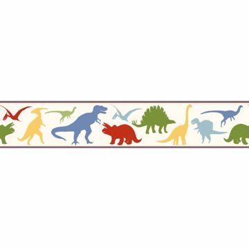 Dino Mighties Red Dinosaur Toss Border