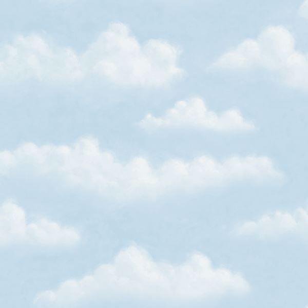 Amelia Blue Puffy Clouds