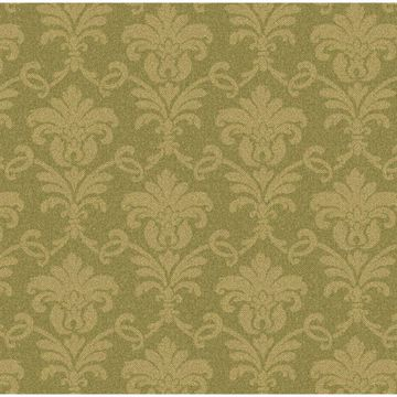 Green Herringbone Damask