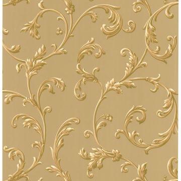 Sylvia Gold Ornate Scroll