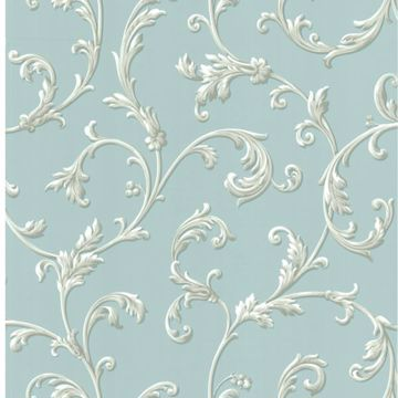 Sylvia Blue Ornate Scroll