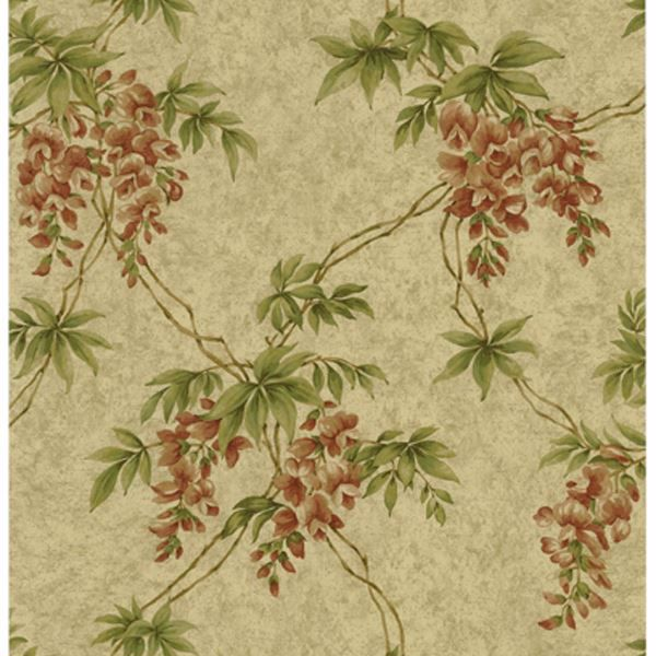 Annabelle Wheat Floral Toile