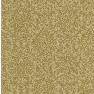 Morgan Olive Busy Damask