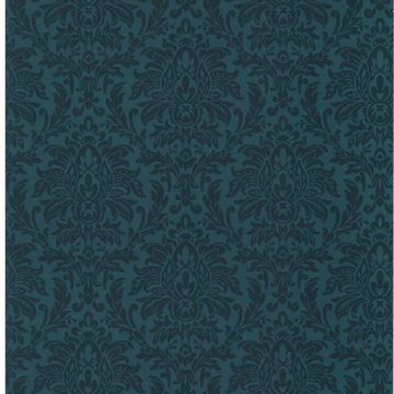 Morgan Navy Busy Damask