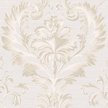 Tangler Light Grey Brilliant Acanthus Damask