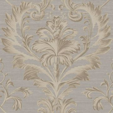 Tangler Charcoal Brilliant Acanthus Damask
