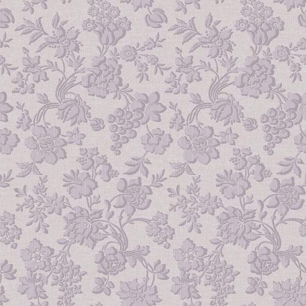 Stria Violet Floral Toss