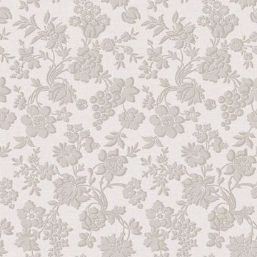 Stria Grey Floral Toss