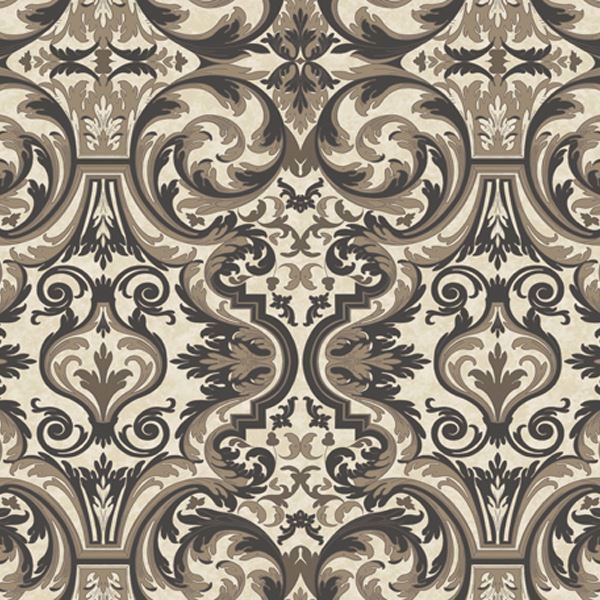 Guinevere Black Baroque Marquetry