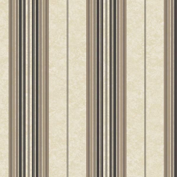 Poppy Black Baroque Stripe