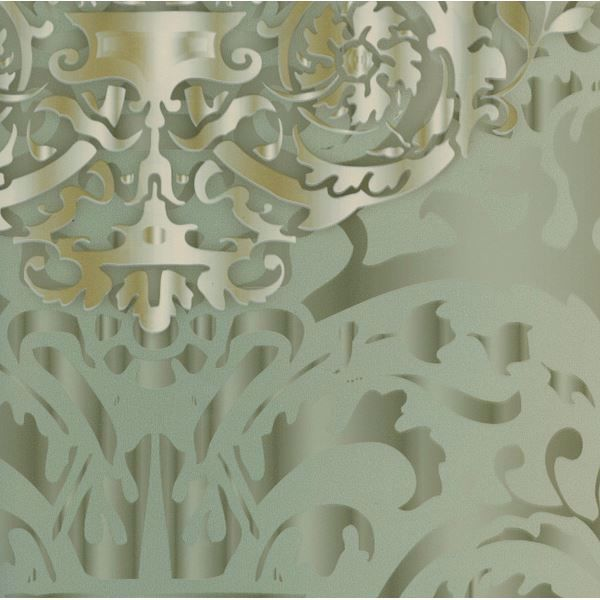 Hmy57636 green sugdin damask wallpaper harmony by patty madden - Patty madden wallpaper ...