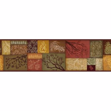 Red Pinecone Collage Border