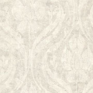 Carrara  Light Grey Textured Damask