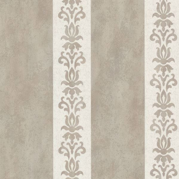Parisi Grey Embellished Damask Stripe