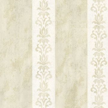 Parisi Cream Embellished Damask Stripe