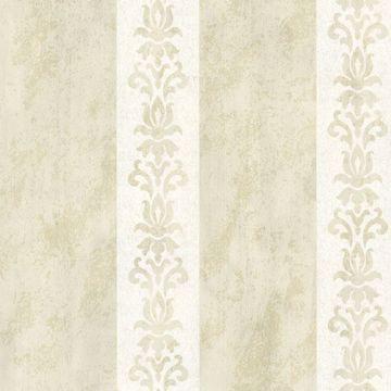 Parisi Cream Embellished Damask Stripe