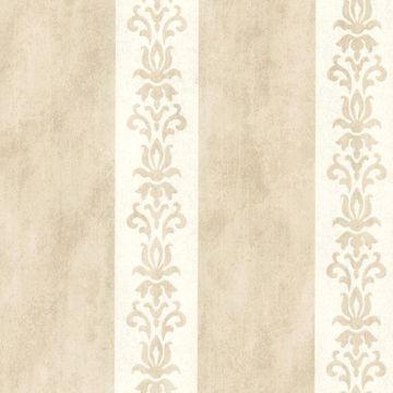 Parisi Beige Embellished Damask Stripe
