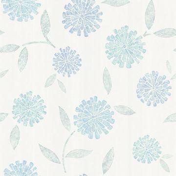Davenport Blue Modern Floral