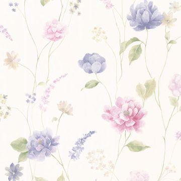 Hanne Blue Floral Pattern