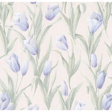 Denning Blue Satin Tulip Texture