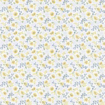 Leif Blue Dense Floral Toss