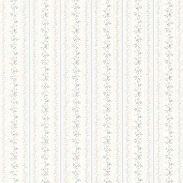 Ermes Blue Delicate Floral Pinstripe