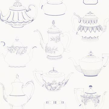 Valie Blue Vintage Teapot Texture