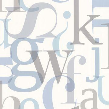 Angus Blue Vintage Letter Font