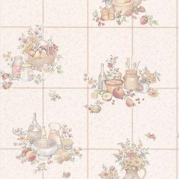 Pajer Beige Vintage Fruit Tile