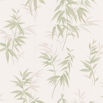 Oates Green Bamboo Leaf Texture