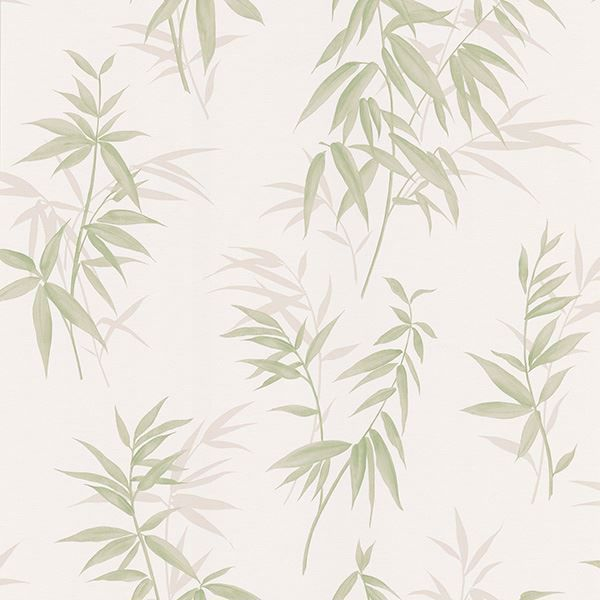 347 63804 Green Bamboo Leaf Texture Oates Kitchen Bath Resource 3 Wallpaper By Brewster