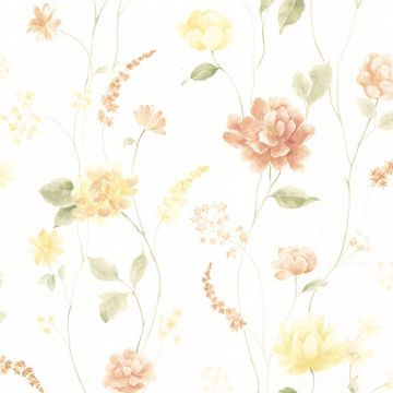 Hanne Yellow Floral Pattern