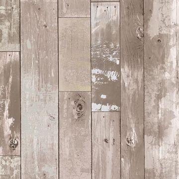 Heim Taupe Distressed Wood Panel