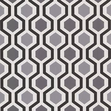 Marina Black Modern Geometric