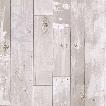 Heim White Distressed Wood Panel