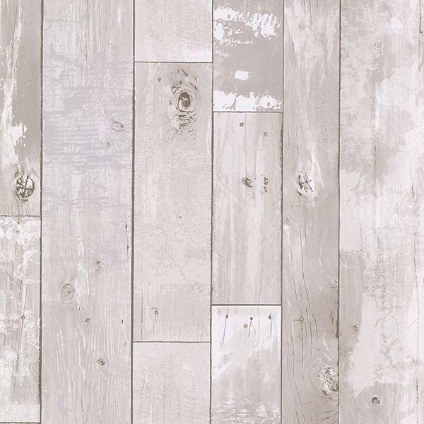 347-20131 White Distressed Wood Panel