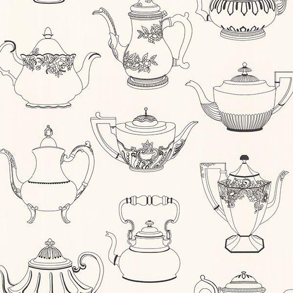 Valie Black Vintage Teapot Texture