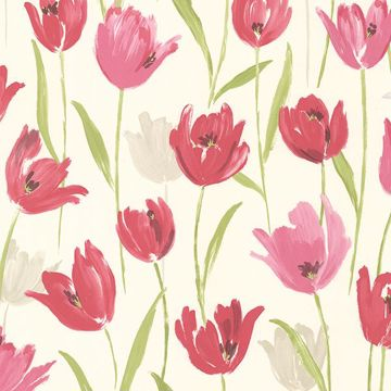 Finch Pink Hand Painted Tulips